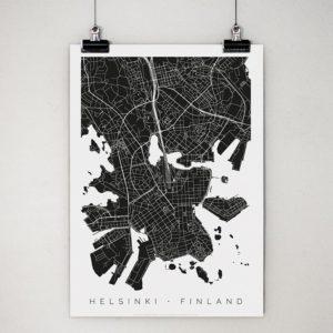 Helsinki-juliste klipseissä